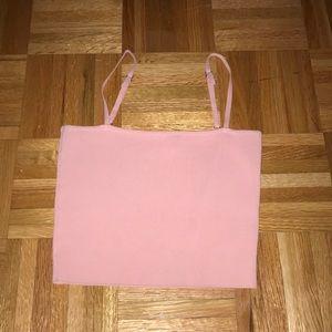 LF pink crop top